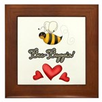 Bee Boppin Bumble Bee Framed Tile