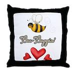 Bee Boppin Bumble Bee Throw Pillow