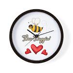 Bee Boppin Bumble Bee Wall Clock