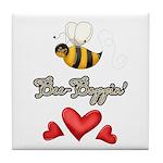 Bee Boppin Bumble Bee Tile Coaster