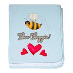 Bee Boppin Bumble Bee baby blanket