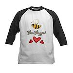 Bee Boppin Bumble Bee Kids Baseball Jersey