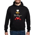 Bee Boppin Bumble Bee Hoodie (dark)