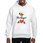 Bee Boppin Bumble Bee Hooded Sweatshirt