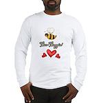 Bee Boppin Bumble Bee Long Sleeve T-Shirt