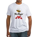 Bee Boppin Bumble Bee Fitted T-Shirt