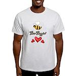 Bee Boppin Bumble Bee Light T-Shirt