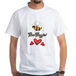 Bee Boppin Bumble Bee White T-Shirt
