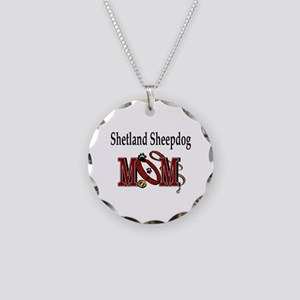 Sheland Sheepdog Mom Necklace Circle Charm