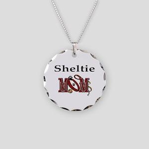 Sheltie Mom Necklace Circle Charm