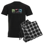 Peace, Love, Labs Men's Dark Pajamas