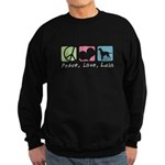 Peace, Love, Labs Sweatshirt (dark)