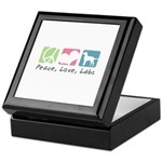 Peace, Love, Labs Keepsake Box