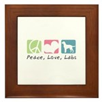 Peace, Love, Labs Framed Tile