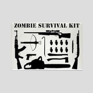 Zombie Survival Kit Rectangle Magnet