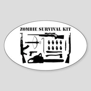 Zombie Survival Kit Sticker (Oval)