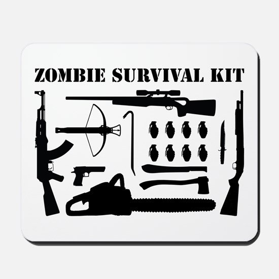 Zombie Survival Kit Mousepad