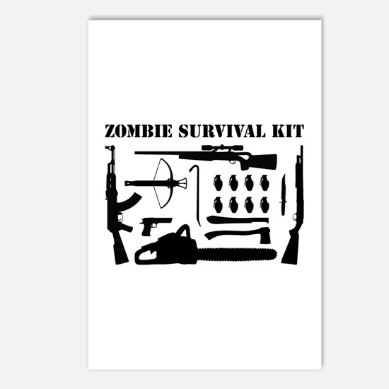 Zombie Survival Kit Postcards (Package of 8)