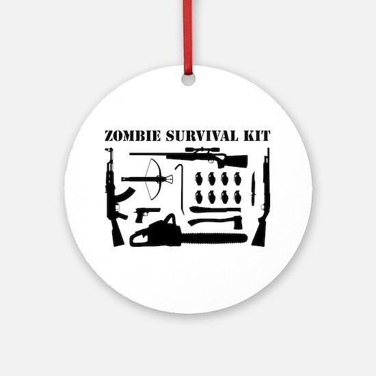 Zombie Survival Kit Ornament (Round)