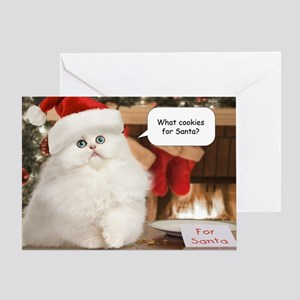 Persian cat christmas greeting cards cafepress cookies for santa christmas card m4hsunfo