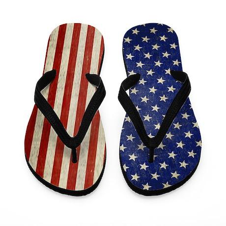 vintage american flag Flip Flops