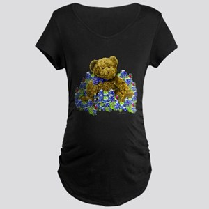 Bluebonnet Bear Maternity Dark T-Shirt
