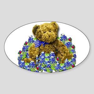 Bluebonnet Bear Sticker (Oval)