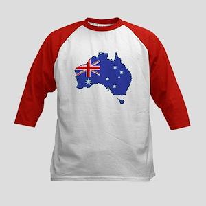 """Pixel Australia"" Kids Baseball Jersey"