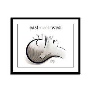 East Meets West Framed Panel Print