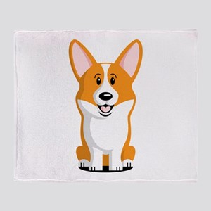 Pembroke Welsh Corgi Throw Blanket
