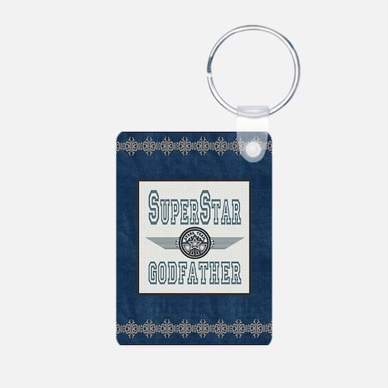 Superstar Godfather Aluminum Photo Keychain