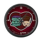 Monster Loves Bride Large Wall Clock