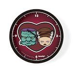 Monster Loves Bride Wall Clock
