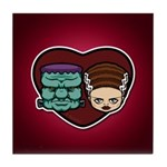 Monster Loves Bride Tile Coaster