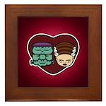 Monster Loves Bride Framed Tile