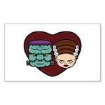 Monster Loves Bride Sticker (Rectangle 10 pk)