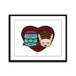 Monster Loves Bride Framed Panel Print