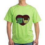 Monster Loves Bride Green T-Shirt