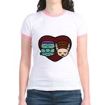Monster Loves Bride Jr. Ringer T-Shirt