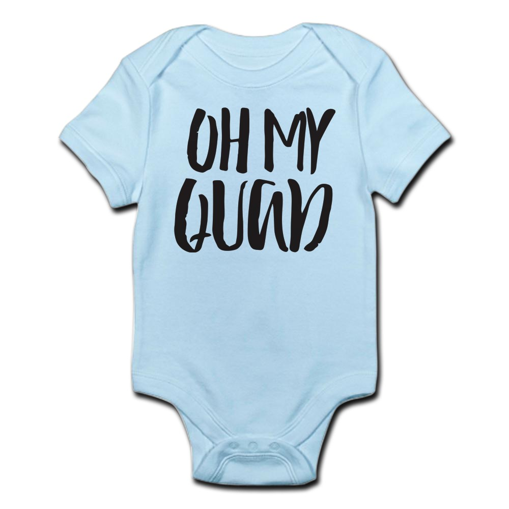 CafePress-Oh-My-Quad-Infant-Bodysuit-Cute-Infant-Bodysuit-Baby-Romper-56645618 thumbnail 6