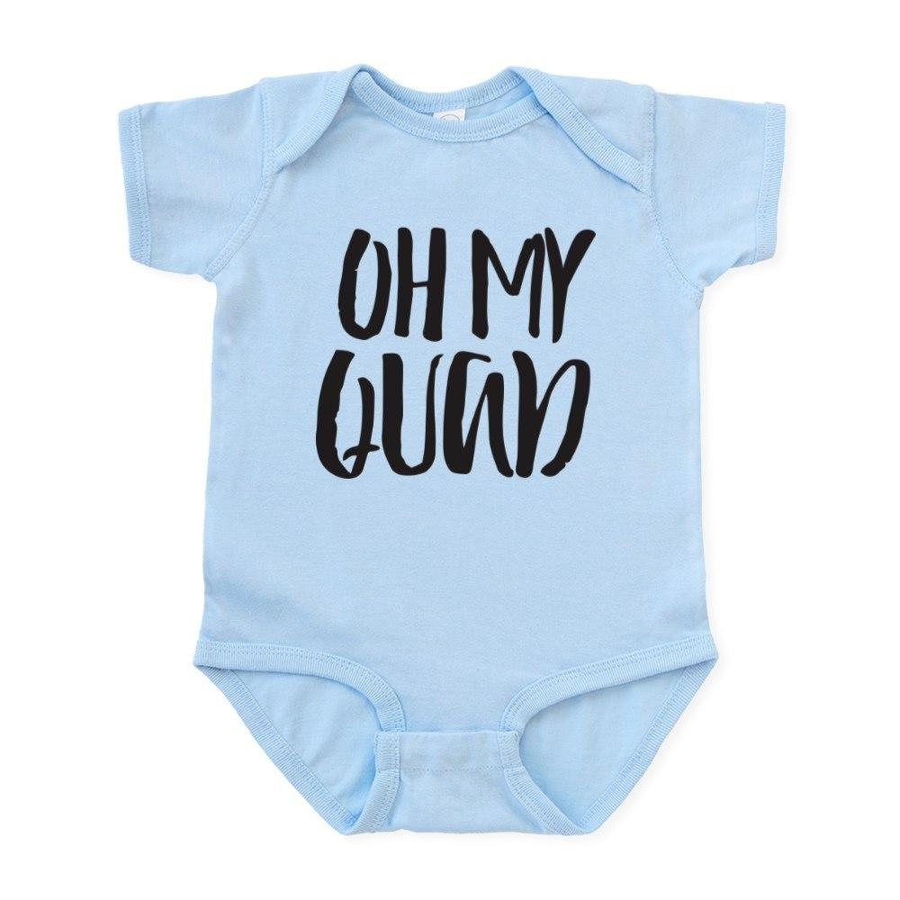 CafePress-Oh-My-Quad-Infant-Bodysuit-Cute-Infant-Bodysuit-Baby-Romper-56645618 thumbnail 3