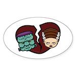 Bride Hates Monster Sticker (Oval 10 pk)