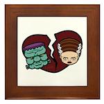 Bride Hates Monster Framed Tile