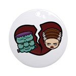 Bride Hates Monster Ornament (Round)