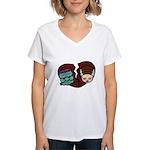Bride Hates Monster Women's V-Neck T-Shirt