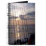 Beach Sunset Fishing Poles Journal