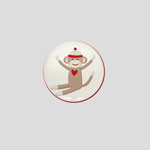 Sock Monkeys Mini Button