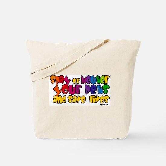 Spay Neuter Rainbow Tote Bag