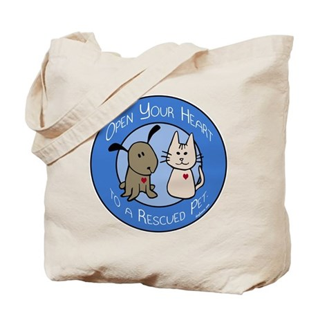 Open Your Heart - Rescued Pet Tote Bag