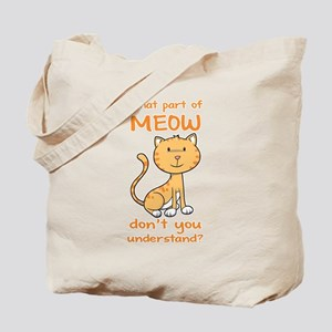 Part of Meow Tote Bag